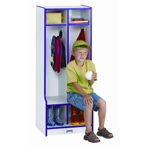 Jonti-Craft 2-Section Double Locker with Step