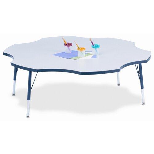 "Jonti-Craft KYDZ 60"" Six Leaf Classroom Table"
