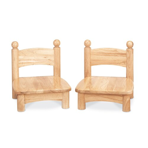 "Jonti-Craft Wooden Chair Pair -  5"" seat height"