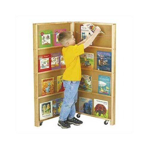 "Jonti-Craft 48"" Mobile Library Bookcase with 2 Sections"