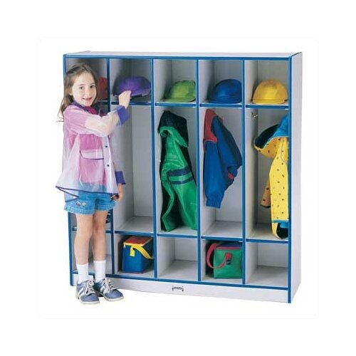 Jonti-Craft Rainbow Accents Coat Locker - 5 Sections