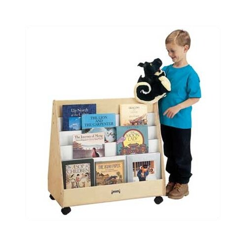 "Jonti-Craft 30"" Mobile Pick-a-Book Stand with 2 Sided"