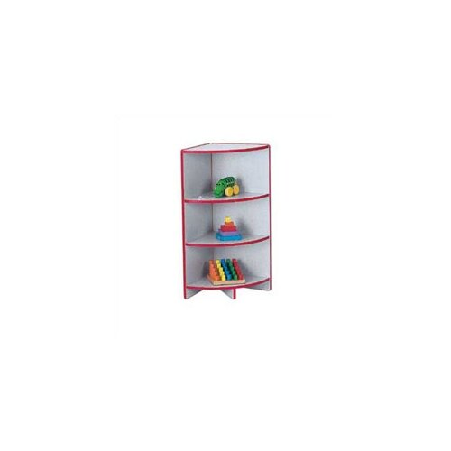 "Jonti-Craft KYDZ Curves 35"" H Rainbow Accents Corner Bookcase"