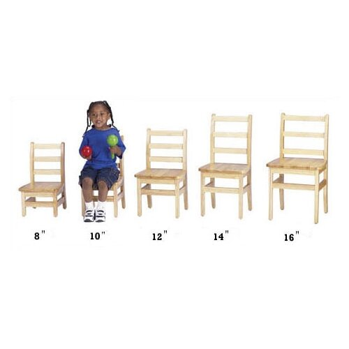"Jonti-Craft KYDZ 16"" Wood Classroom Ladderback Chair (Set of 2)"