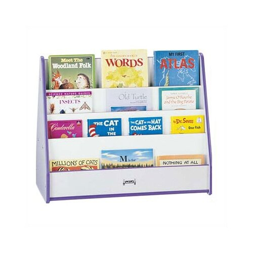 "Jonti-Craft Rainbow Accents 30"" 2 Sided Mobile Pick-a-Book Stand"
