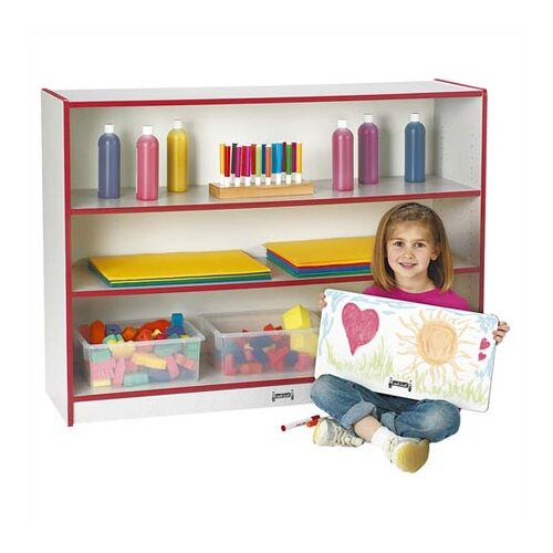 "Jonti-Craft 35.5"" Rainbow Accents Super Sized Adjustable Bookcase"