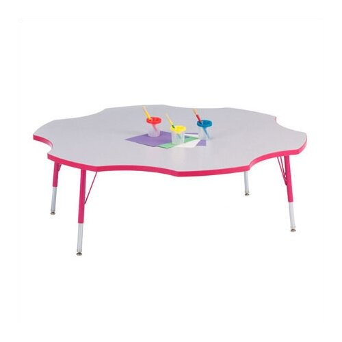 "Jonti-Craft KYDZ 60"" Six Leaf Classroom Table"
