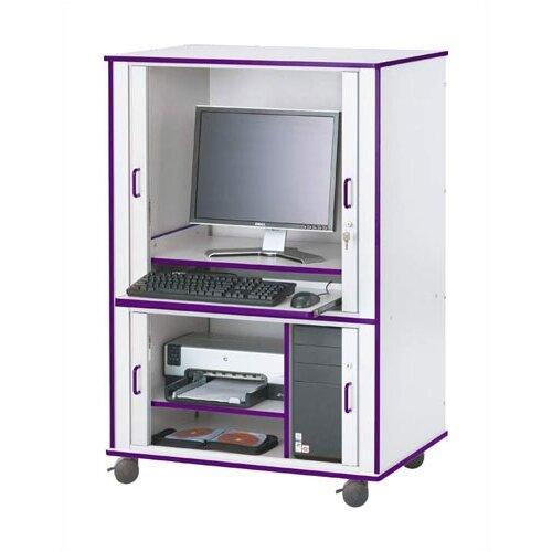"Jonti-Craft Rainbow Accents Computer Cabinet - Rectangular (24"" x 33.5"")"