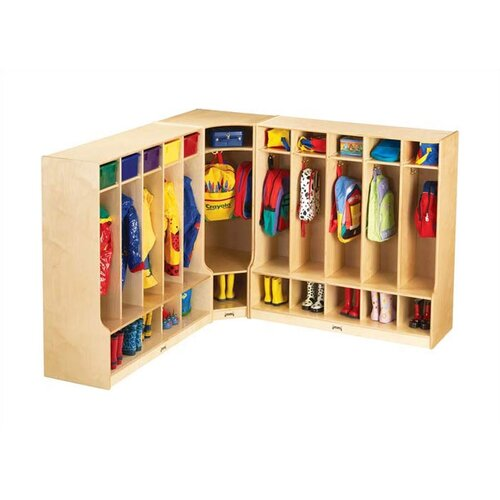 "Jonti-Craft KYDZ Coat Locker Corner Section - Large - Rectangular (24"" x 17.5"")"