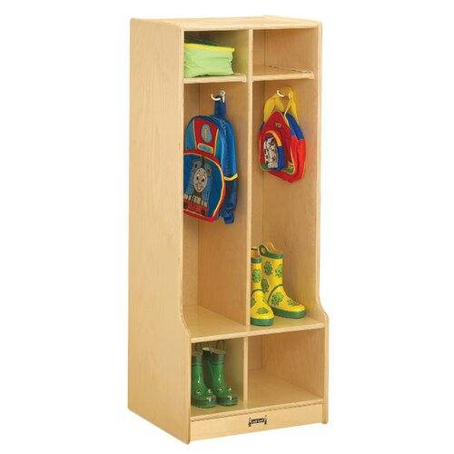 Jonti-Craft Double Locker With Step - 2 Sections