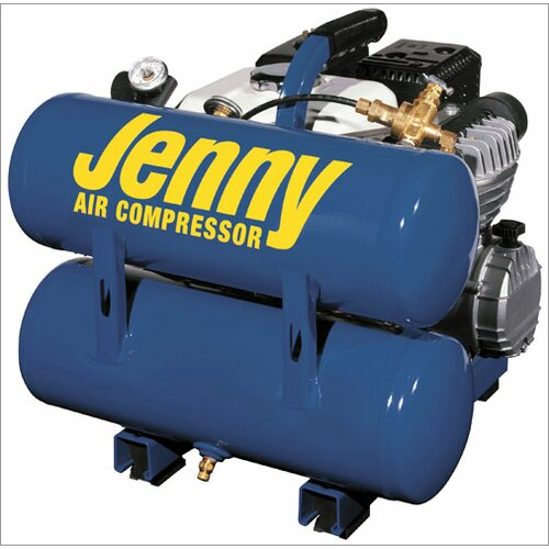 Jenny Products Inc 4 Gallon Tank 4 HP Hand Carry Portable Gas Air Compressor