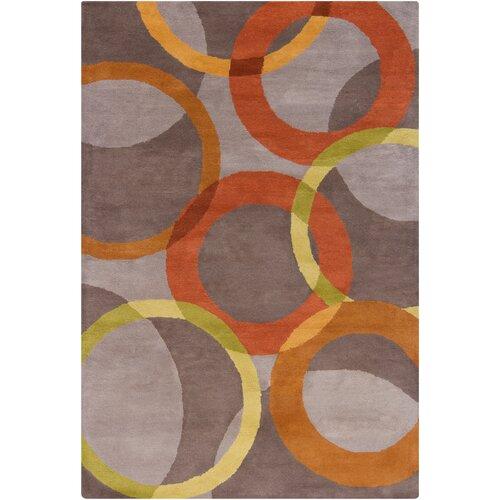 Filament  LLC Cinzia Warm Grey/Rust Geometric Rug