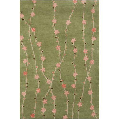 Filament  LLC Cinzia Green Floral Rug