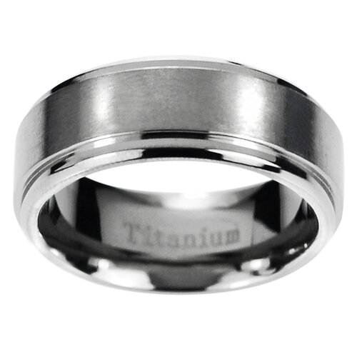 Men's Titanium Edge Comfort Fit Band Ring