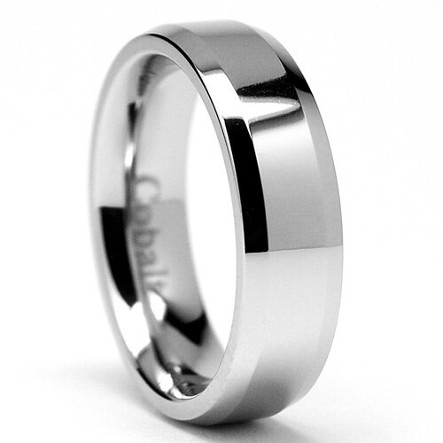 Men's Chrome Cobalt Comfort Fit Wedding Band