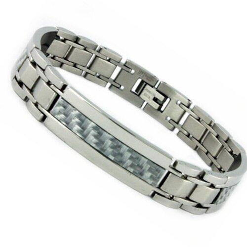 Bonndorf Laboratories Men's Carbon Fiber Inlayl Bracelet