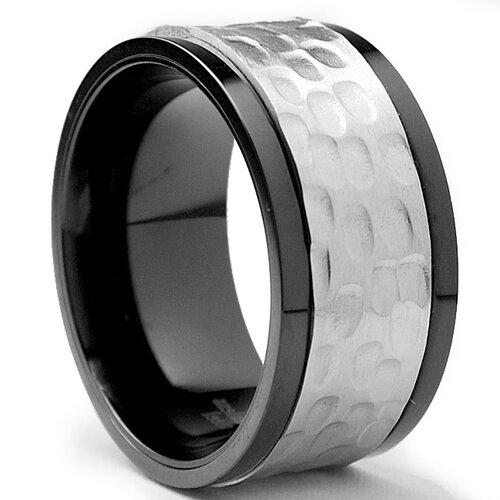 Men's Stainless Steel Comfort Fit Spinner Ring