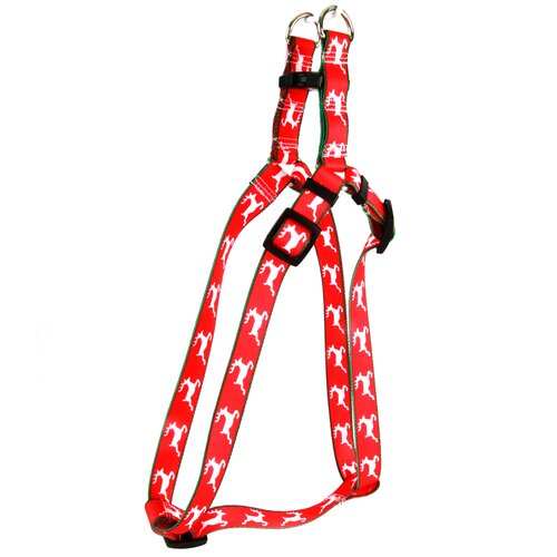 Reindeer Print Step-In Harness