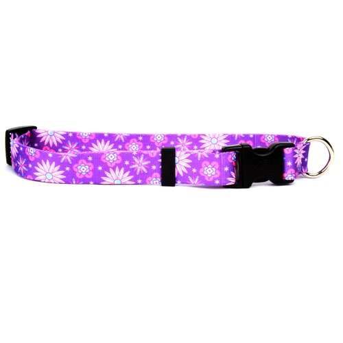 Yellow Dog Design Purple Flowers Standard Collar