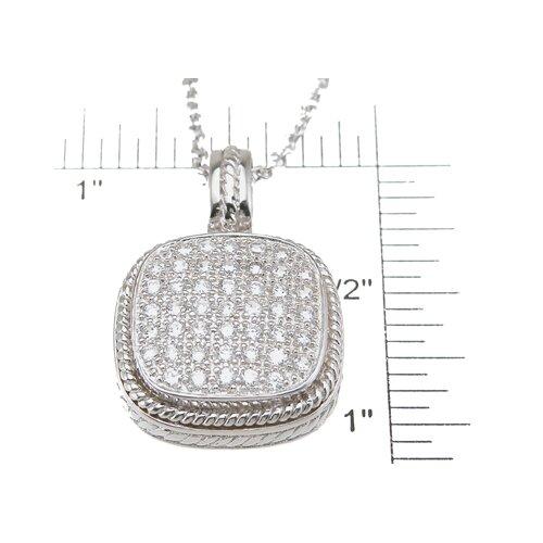 Plutus Partners .925 Sterling Silver Brilliant Cut Cubic Zirconium Fashion Pendant