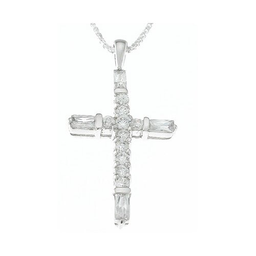 Plutus Partners .925 Sterling Silver Fashion Cross Pendant