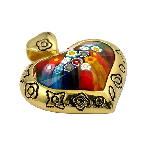 Millefiori Glass Heart Pendant