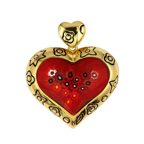 Plutus Partners Millefiori Glass Heart Pendant