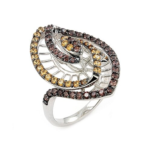 Ferroni Sterling Silver Swarovski Elements Zirconia Marquise Ring