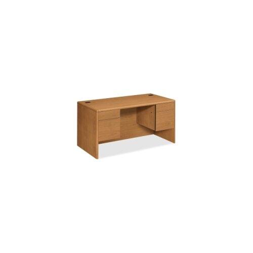 "HON 10700 Series 60"" W Double 3/4 Pedestal Executive Desk"