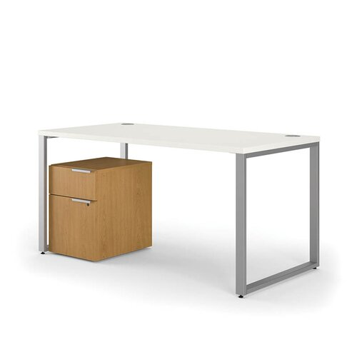 HON Voi L-Shaped Desk with Mobile Pedestal