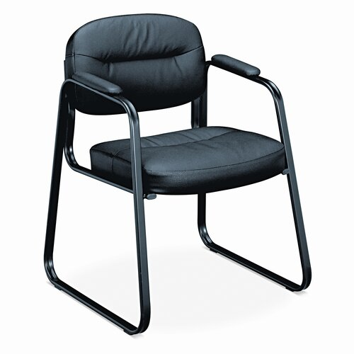 HON Leather Guest Side Chair