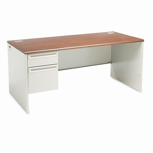HON 38000 Series Computer Desk with Left Pedestal