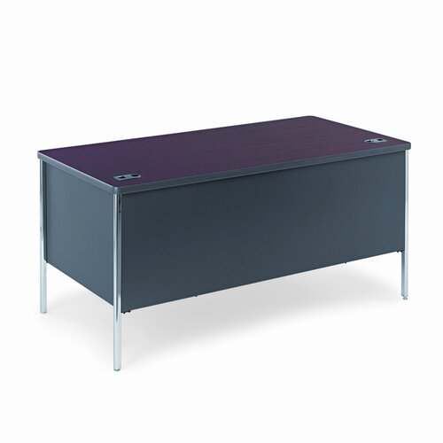 HON Mentor Series Double Computer Desk with Soft Radius Edge Corner
