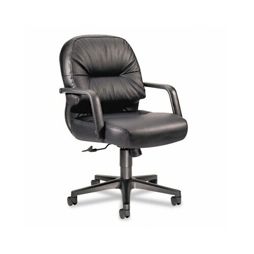 HON Mid-Back Leather Swivel / Tilt Office Chair with Arms
