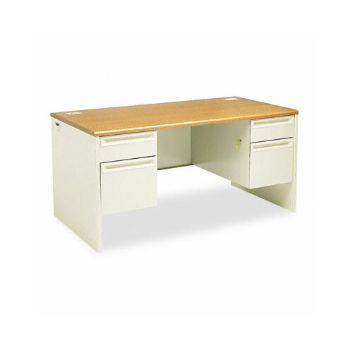 HON 38000 Series Executive Desk with 2 Right & 2 Left Drawers