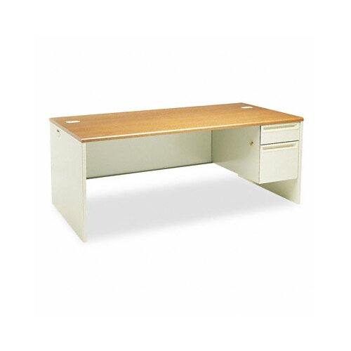 HON 38000 Series Executive Desk with Right Pedestal