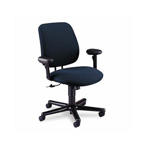 HON 24-Hour Task Series Swivel/Tilt Chair with Adjustable Arms, Blue Olefin