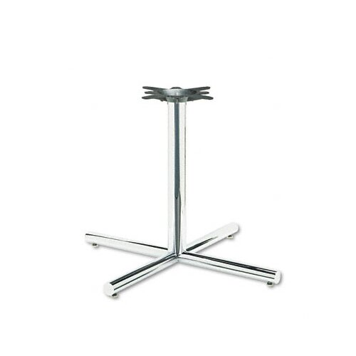 HON Single Column Steel Base, 36w x 36d x 27-7/8h, Chrome
