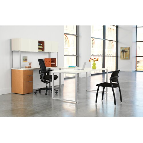 HON Voi Executive Desk with Stack On Storage