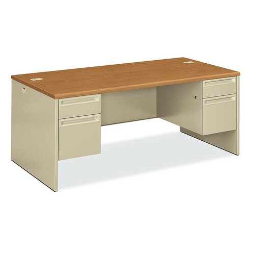 HON 38000 Series Executive Desk with Double Pedestal Desk