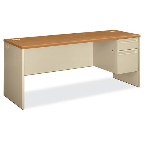 HON 38000 Series Single Pedestal Credenza Desk