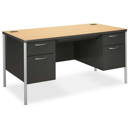 HON Mentor Series Computer Desk with Double Pedestal Desk