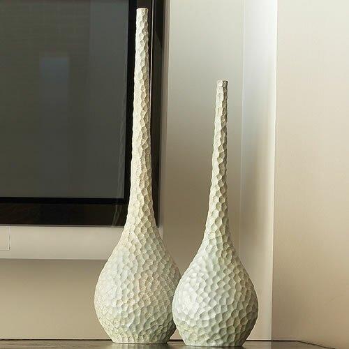 Global Views Chiseled Bird's Egg Vase