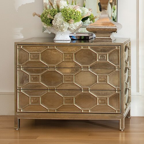 Global Views Greenbrier 3 Drawer Chest