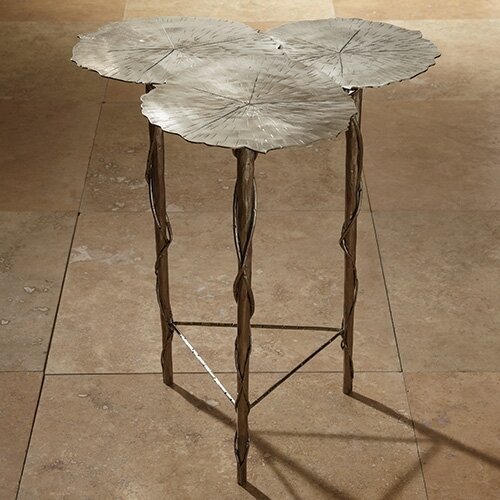 Global Views Trois Lily Pad End Table