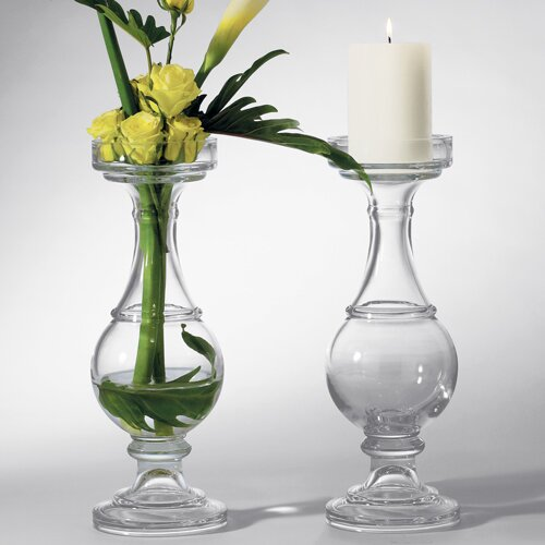 Global Views Glass Banister Candle Holder and Vase