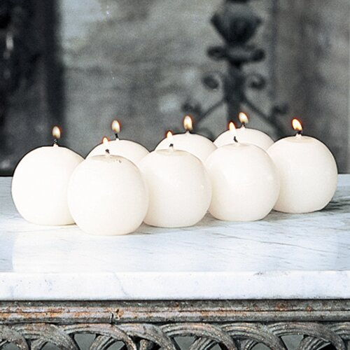 """Global Views Unscented 2.5"""" Ball Candles (Set of 8)"""