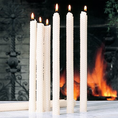 Global Views Unscented Rolled Beeswax Candles (Set of 4)