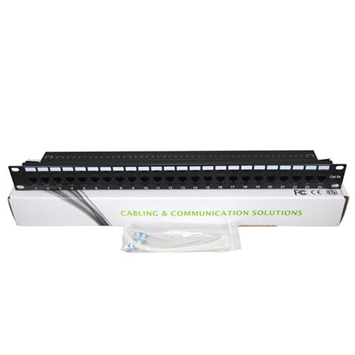 TechTent CAT5e 24 Port Keystone Pass Through Patch Panel