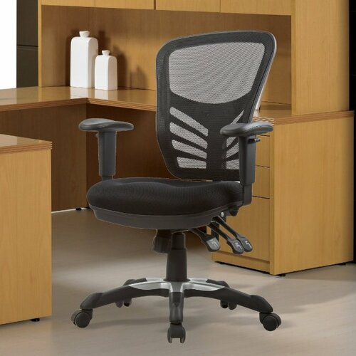 Manhattan Comfort High Back Mesh Executive Office Chair With Adjustable Heigh